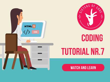 ការណែនាំលេខ ៧ ដើម្បីសរសេរកូដ / Coding Tutorial Nr.7