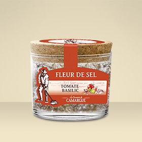 Pot verre Fleur de Sel Tomates/Basilic