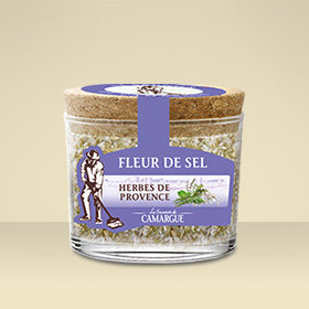 Pot verre Fleur de Sel Herbes de Provence