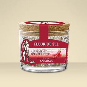 Pot verre Fleur de Sel Piment d'Espelette