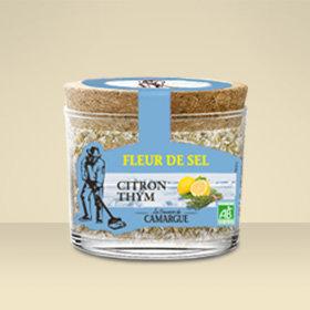 Pot verre Fleur de Sel Thym/citron