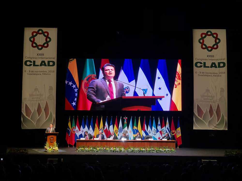 The governor of the State of Jalisco referring the importance of the event to change the concept of government in a sustainable United Nations Goal for 2030