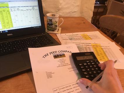 Farm accounts, computer, calculator