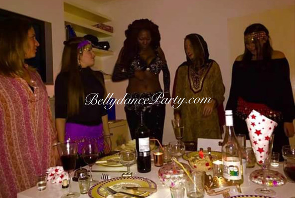 Belly dance dinner party London