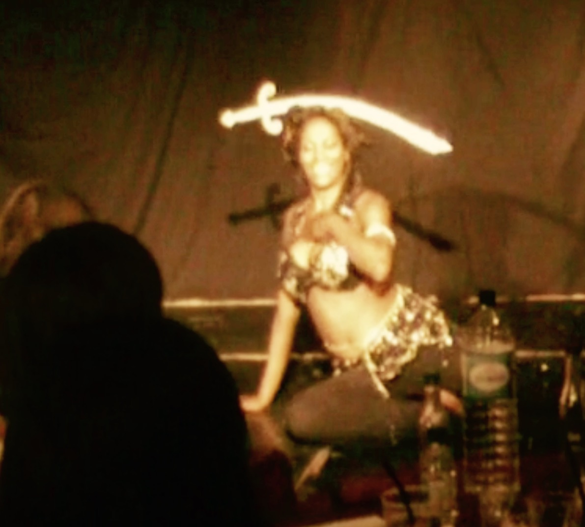 Sword belly dance show London