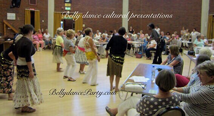 Hen party ideas womens group belly dance