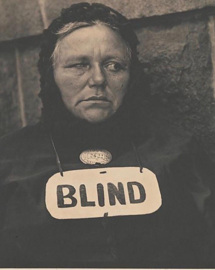 Blind woman musician