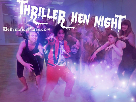 Thriller hen night posters