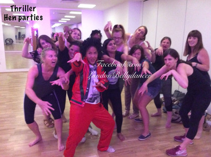 Thriller dance hen party in London Soho