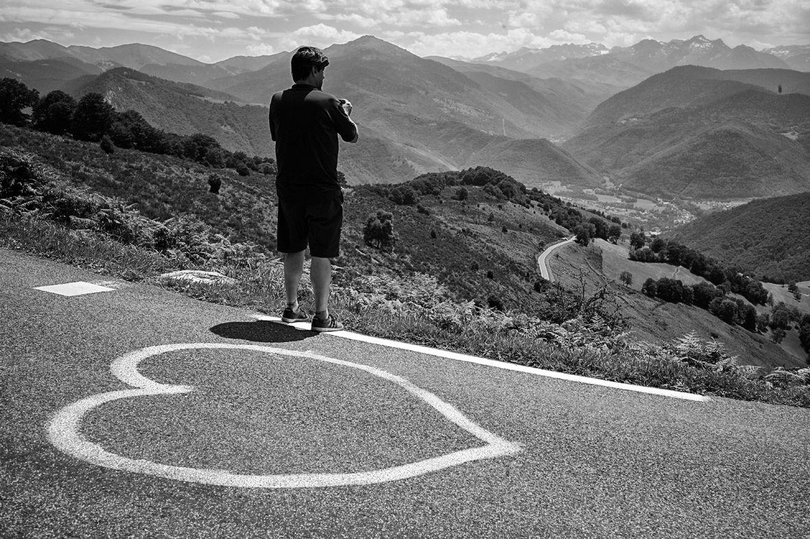 La route en coeur
