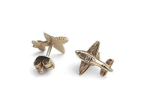 Gold plated Sterling Silver Earrings Warbird