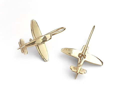 DR400 gold plated 925 silver earrings