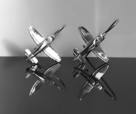 Silver 925 Earrings Robin DR400 aircraft