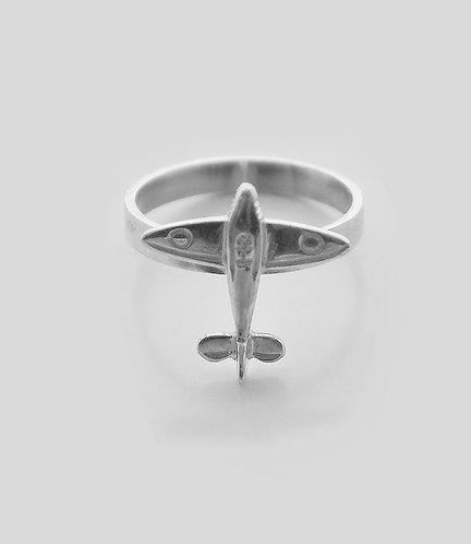 Bague avion Warbird argent 925