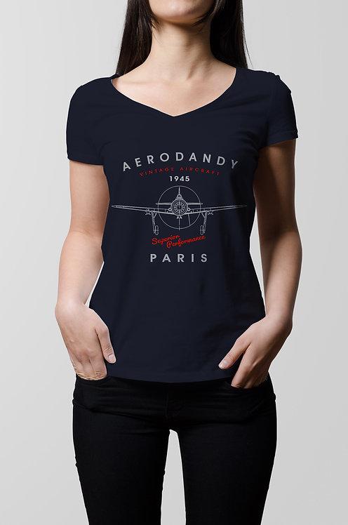 Woman aircraft t-shirt