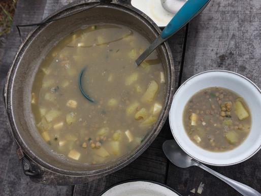 Lentil and potato soup