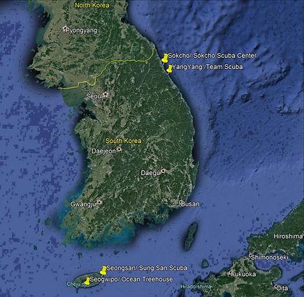 Korea map