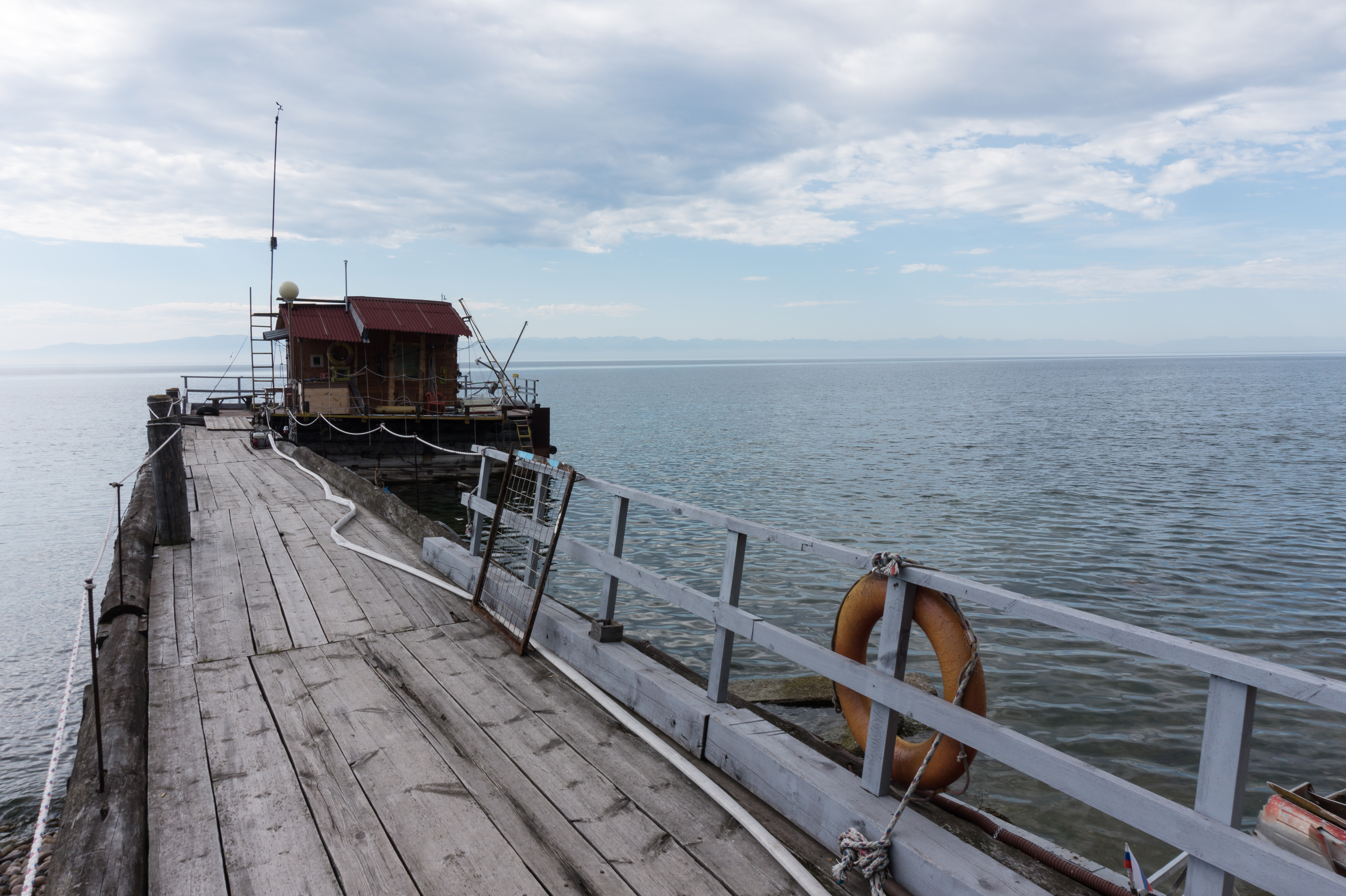 Pier with meteorological station