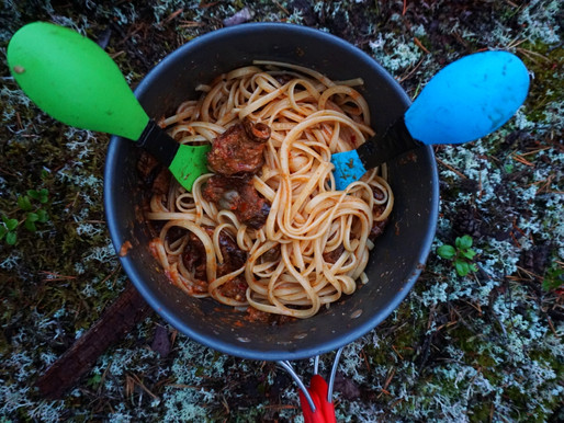 Pasta and dried aubergines-tomato sauce