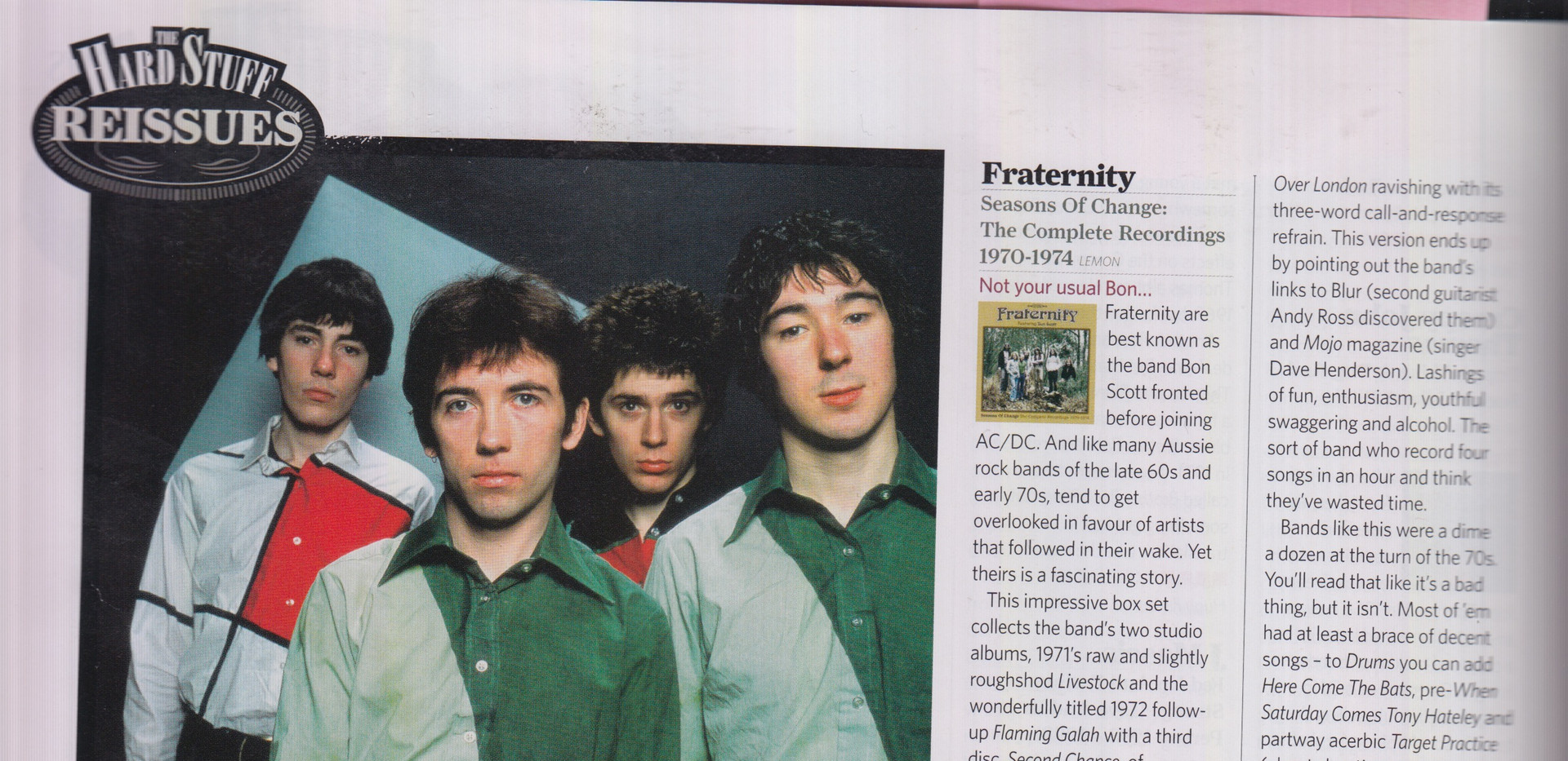Classic Rock #285 -  Fraternity, Byzanti Review