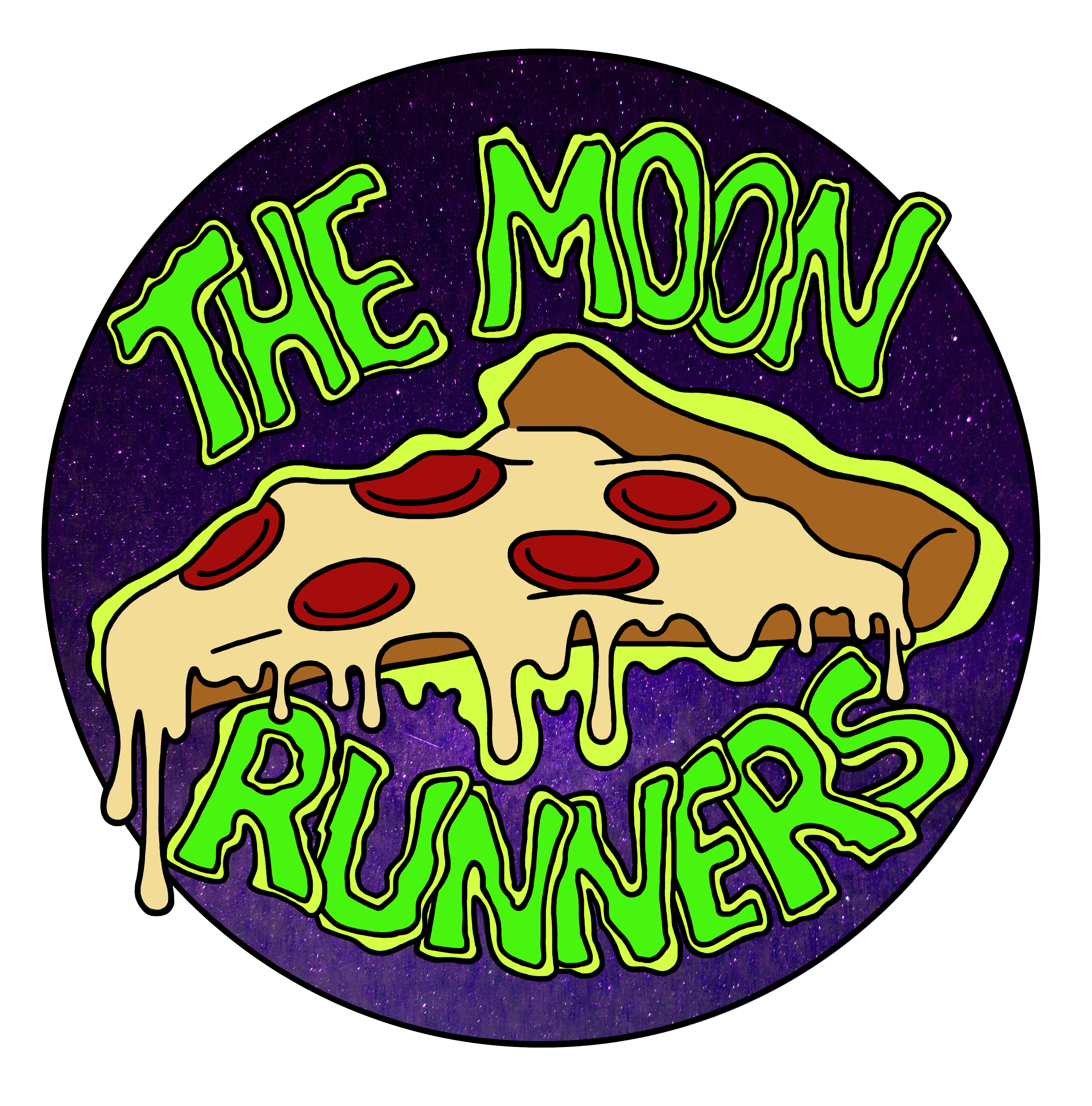 Moon Runners Pizza Sticker