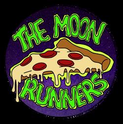Moon Runners Pizza Sticker