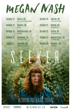 Megan Nash Seeker Tour Poster