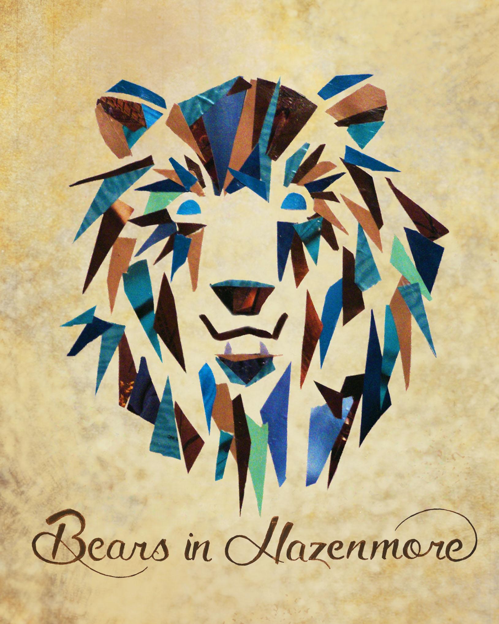 Bears in Hazenmore Collage Sticker
