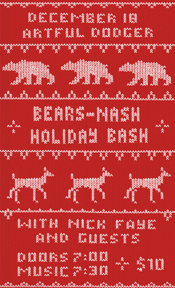 Bears-Nash Holiday Bash Poster