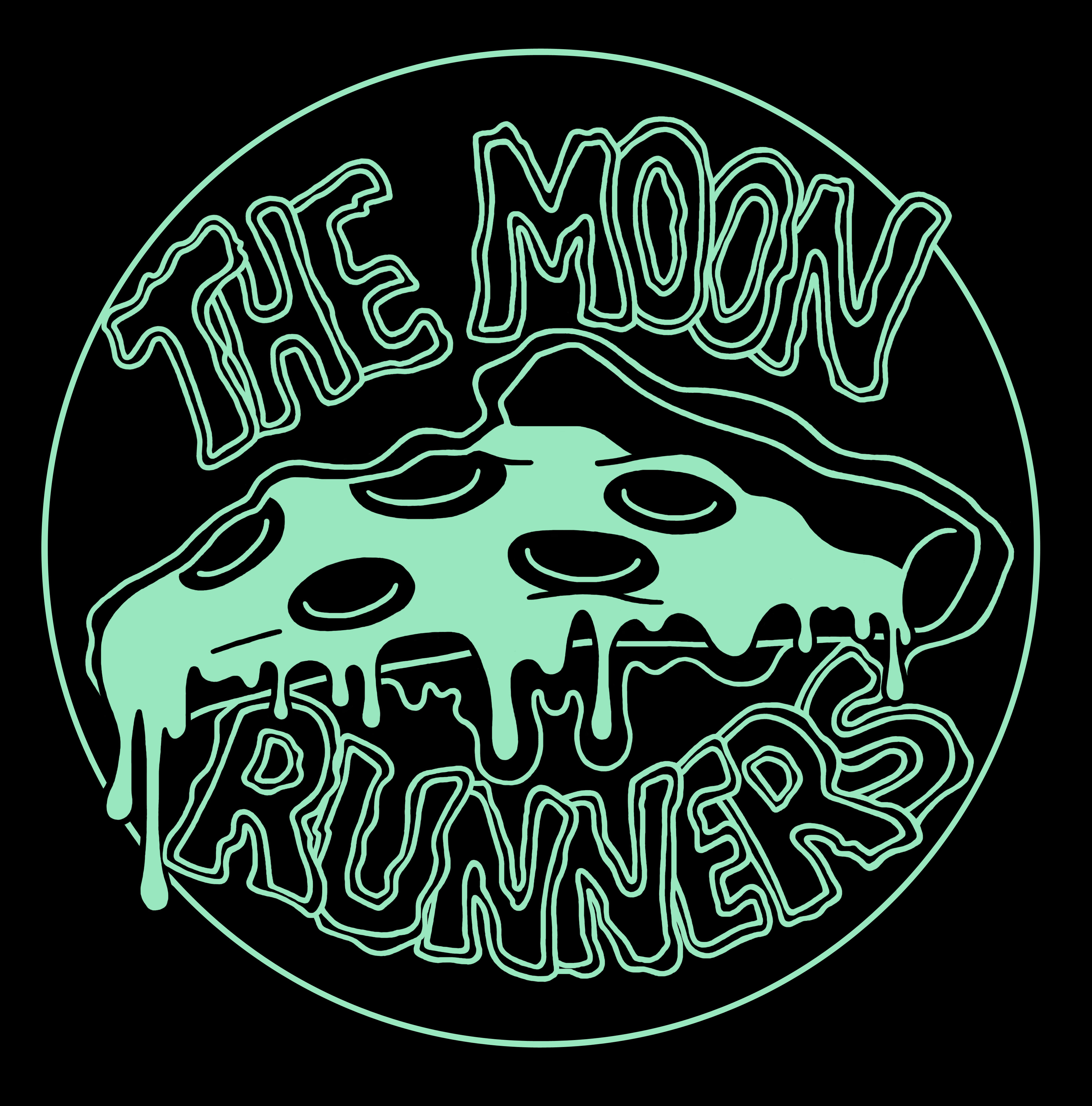 Moon Runners Pizza Shirt Design