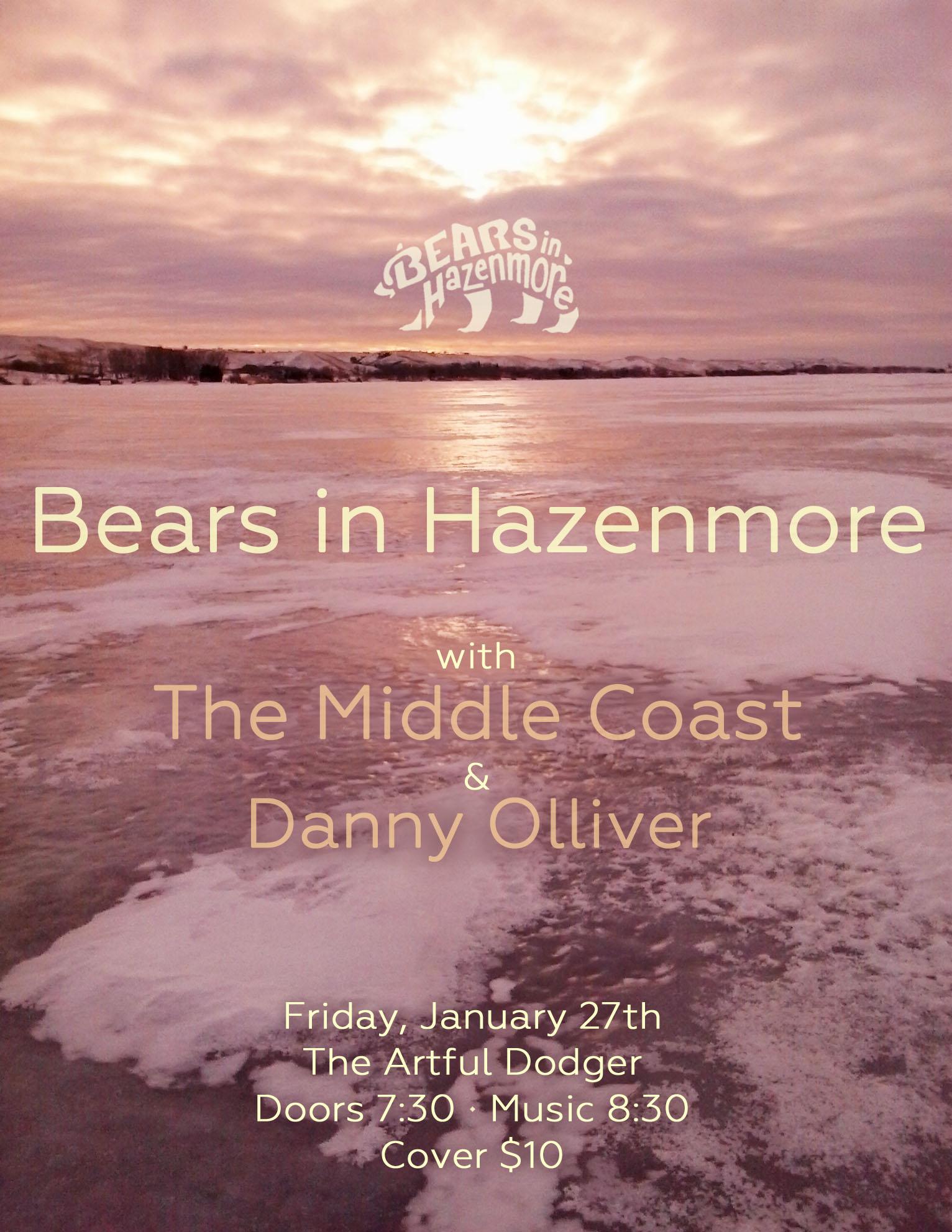 Bears in Hazenmore Poster, Jan 2017