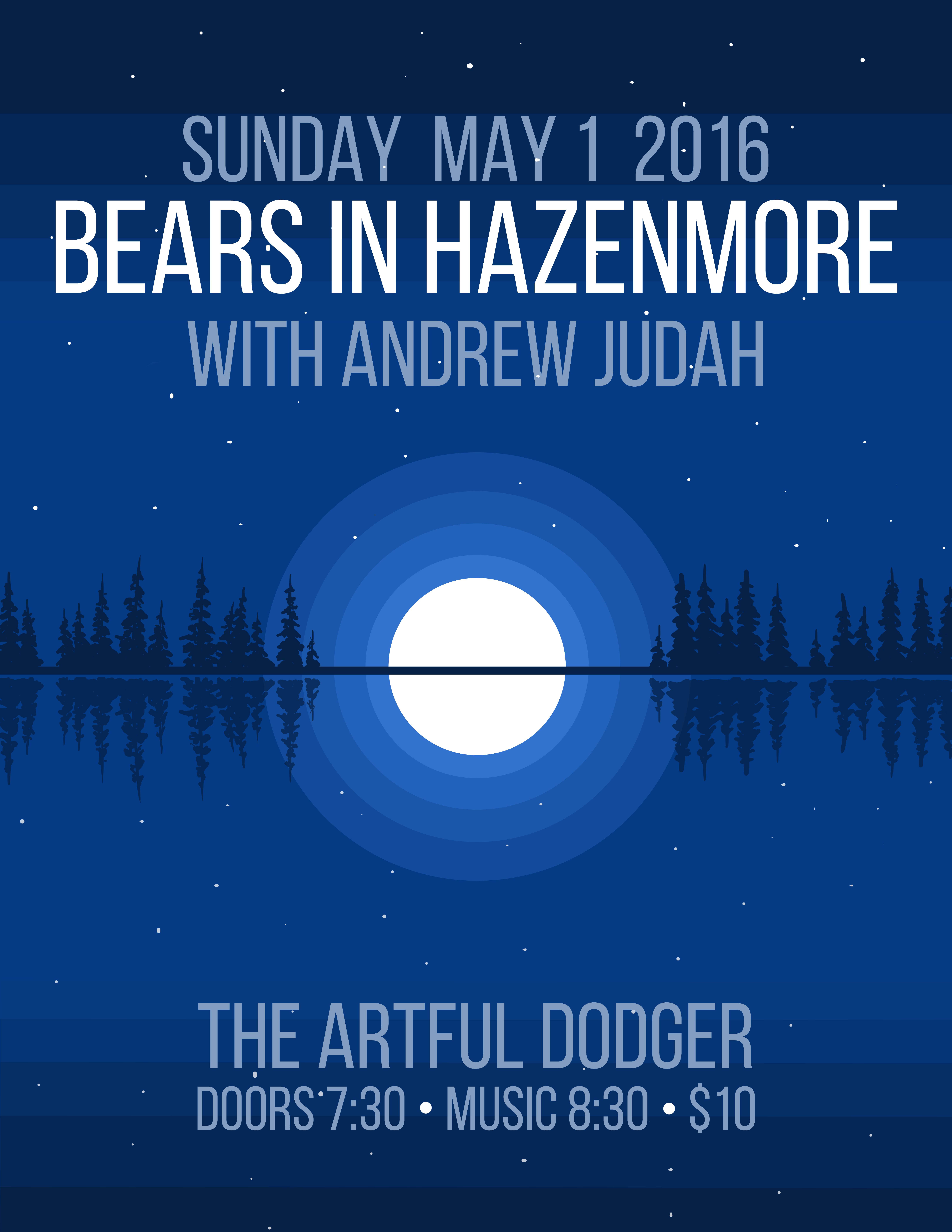 Bears in Hazenmore Poster, May 2016