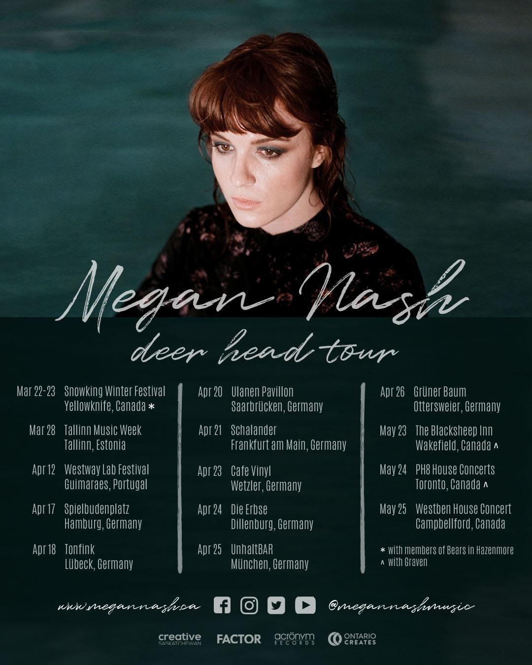 Megan Nash Deer Head Tour Poster