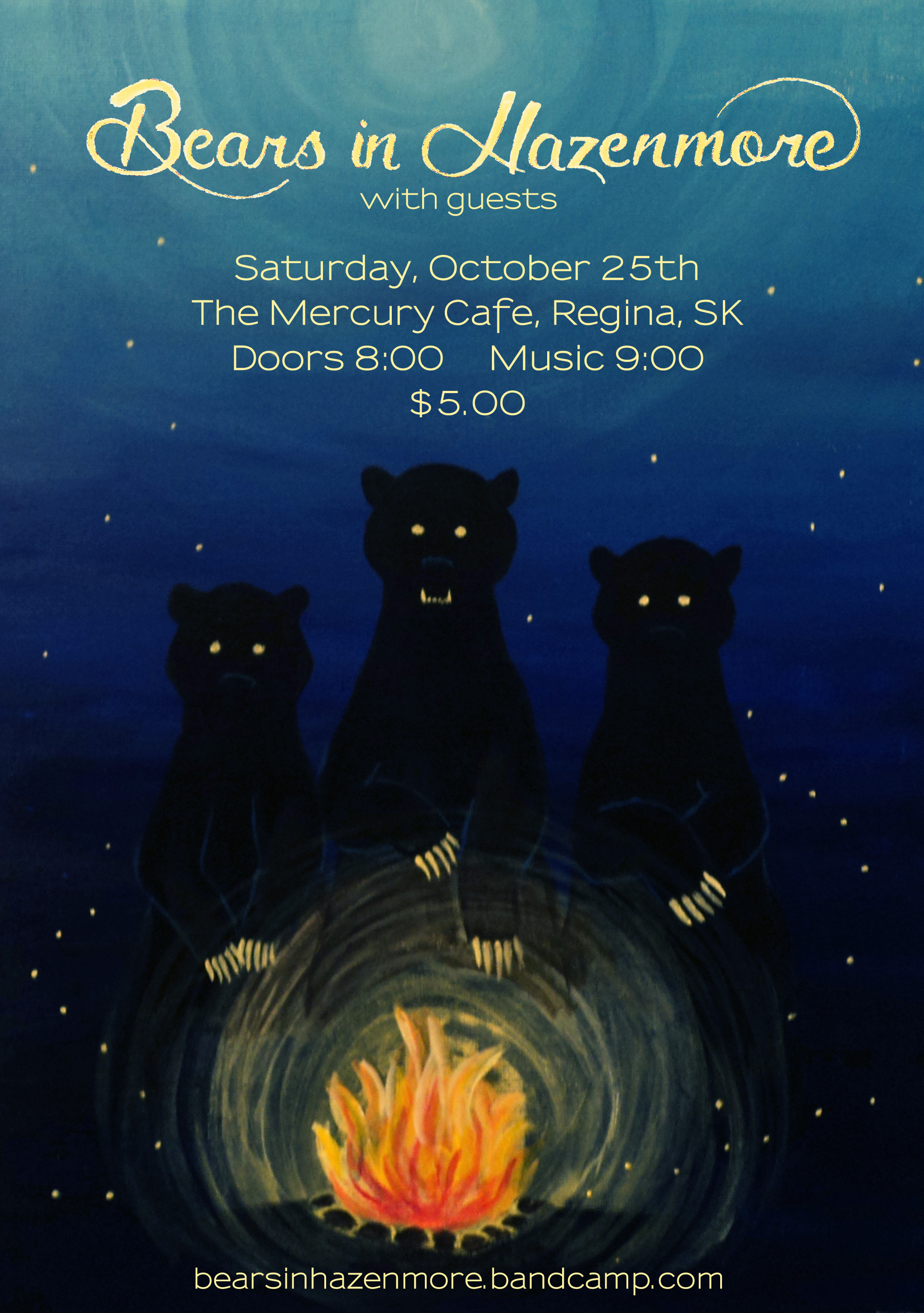 Bears in Hazenmore Poster, Oct 2014
