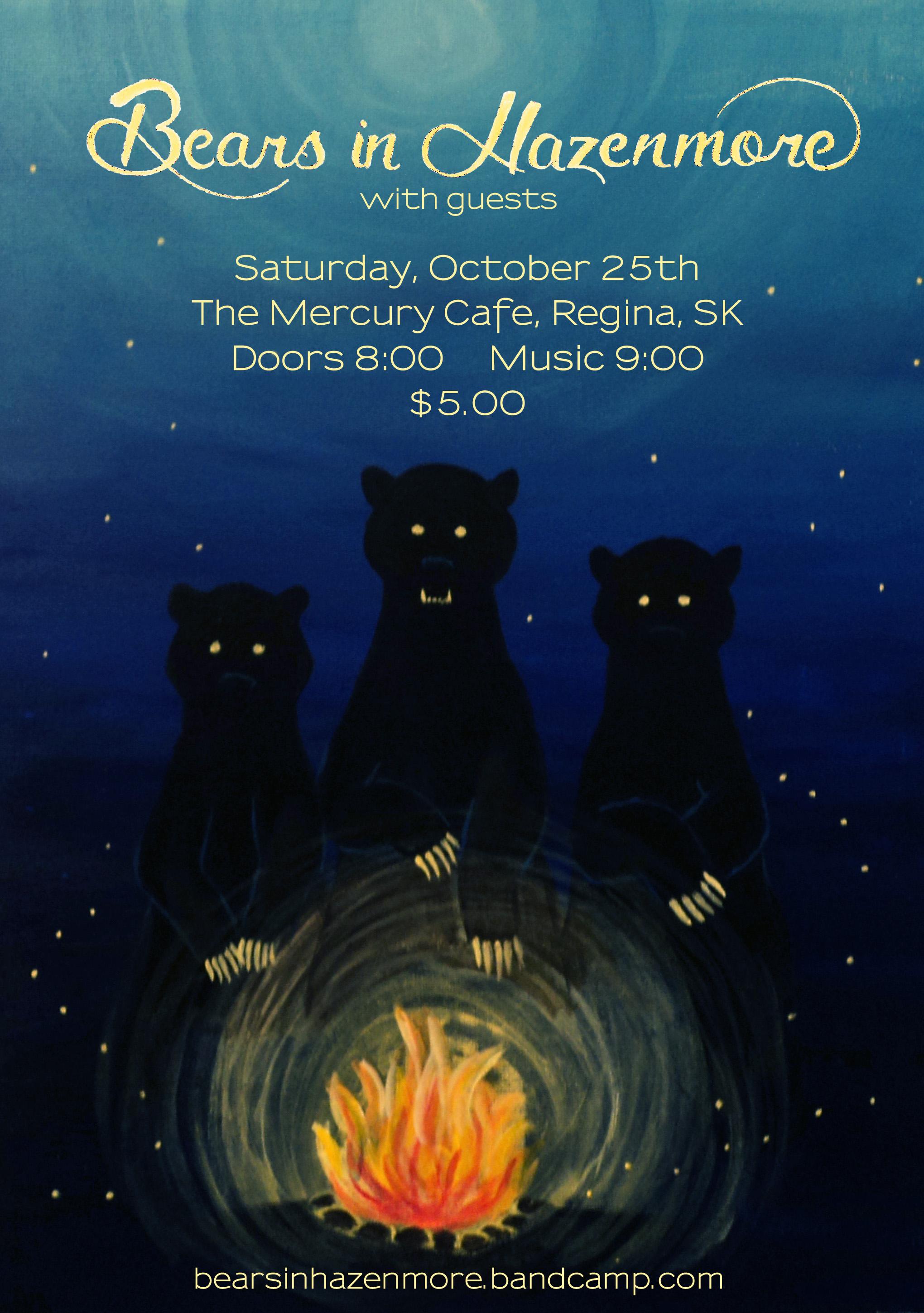 Bears in Hazenmore Poster, Oct 2014