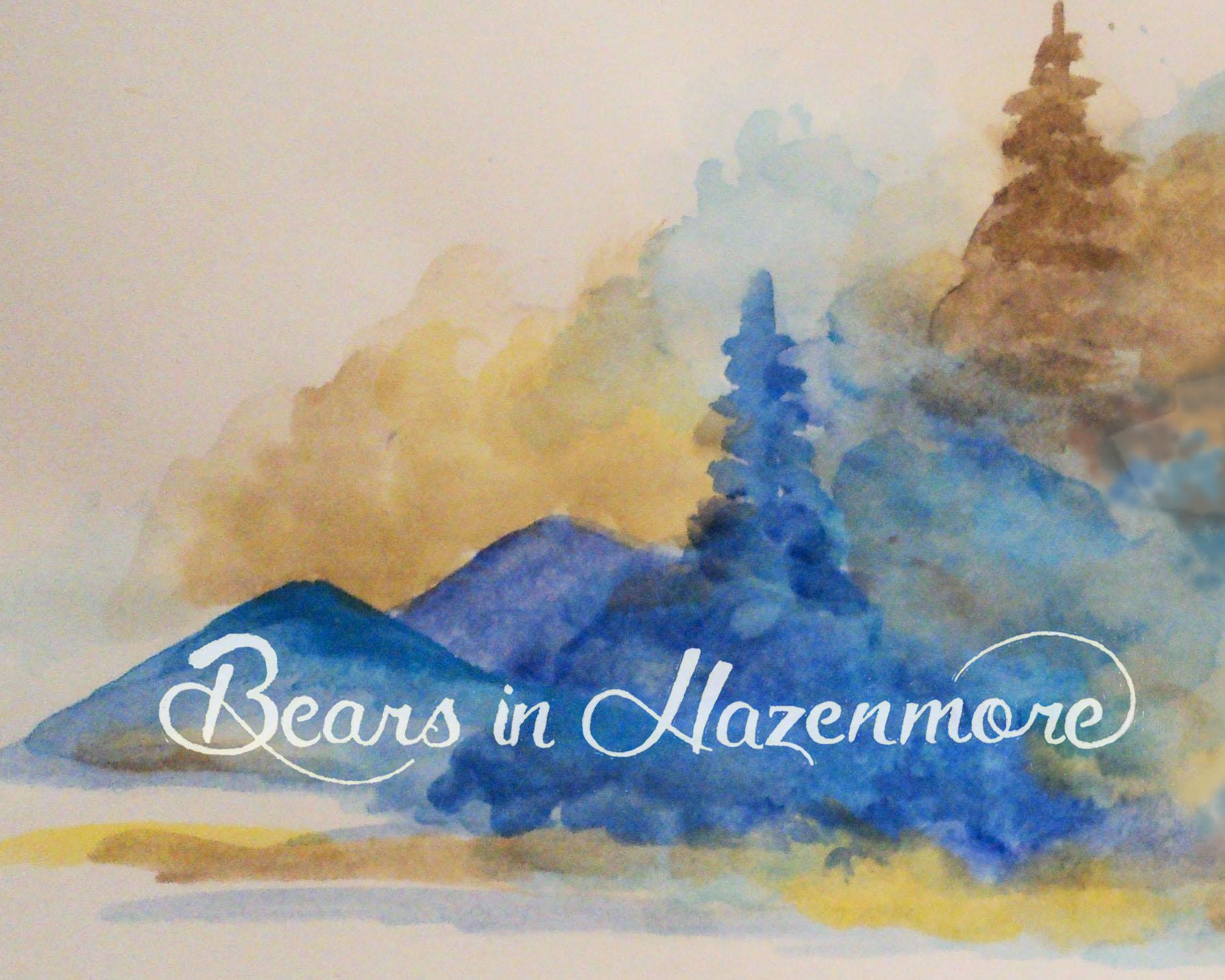 Bears in Hazenmore Landscape Sticker