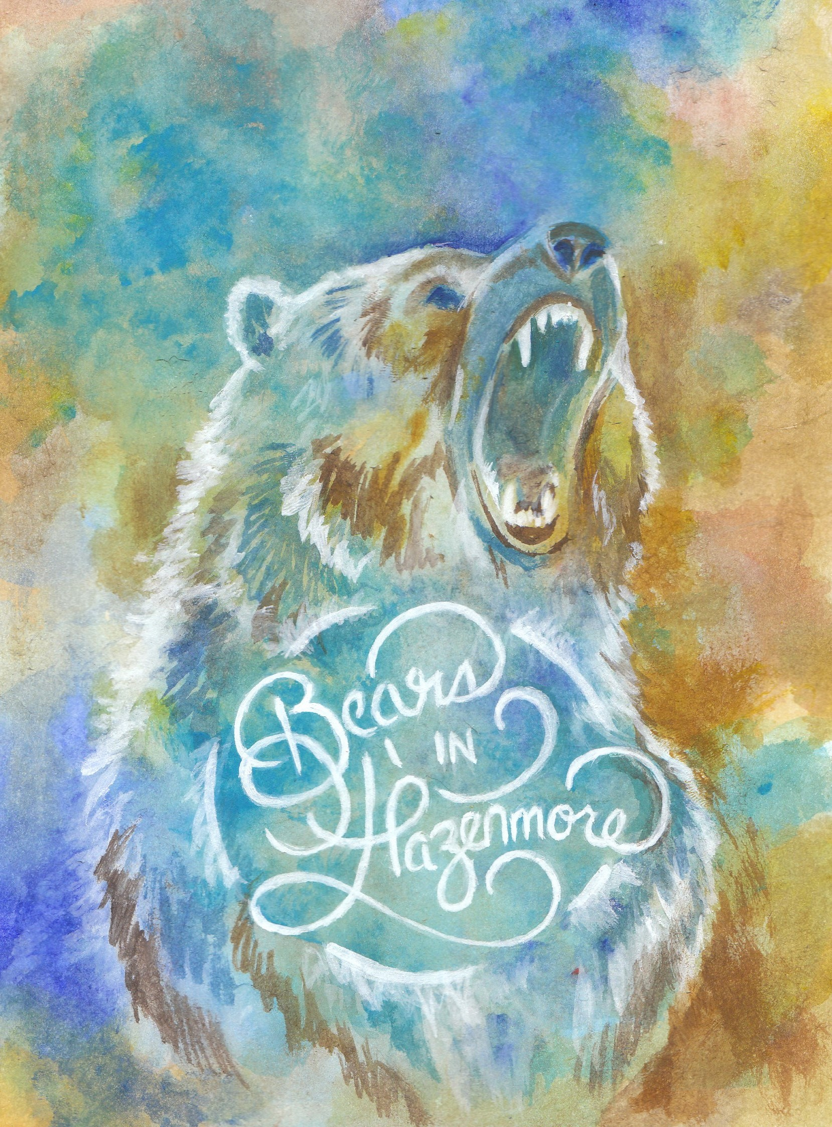 Bears in Hazenmore Painting Sticker