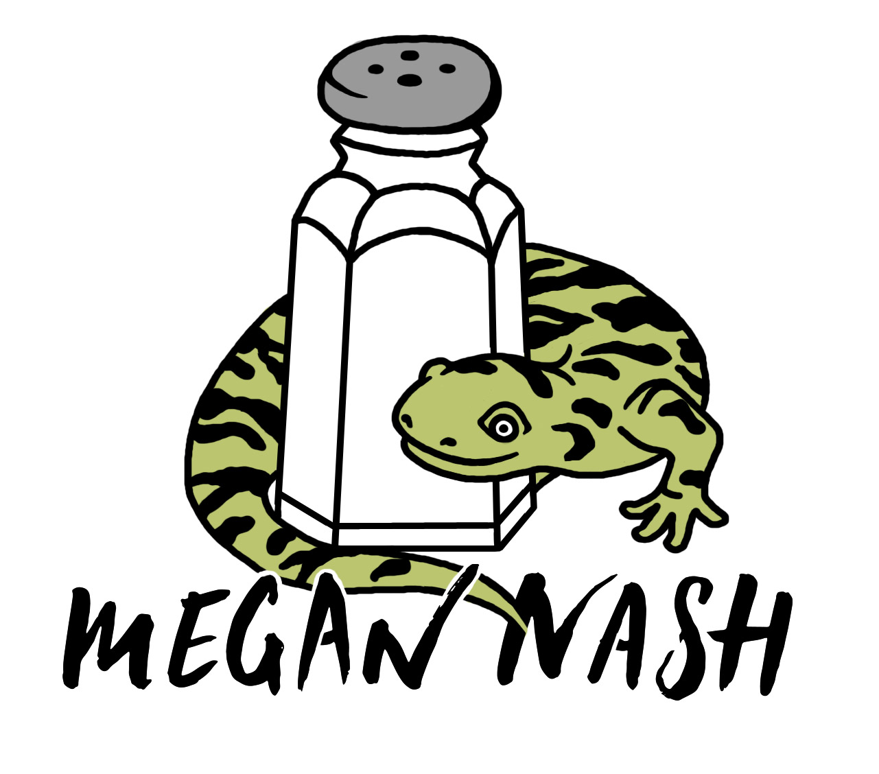 Megan Nash Salted Salamander Sticker
