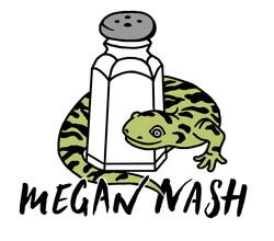 Megan Nash Salted Salamander Sticker