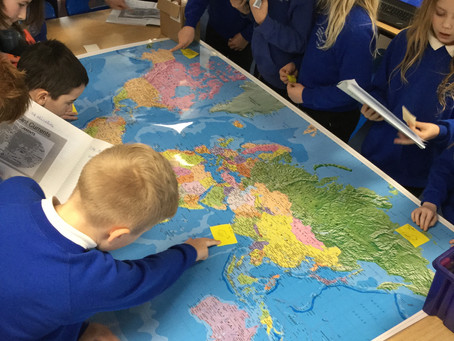 Year 5 Learning about Oceans and Coasts