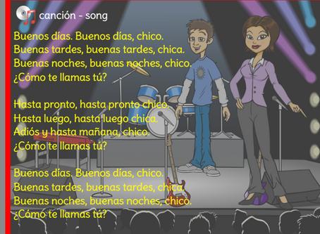 Singing in Spanish!