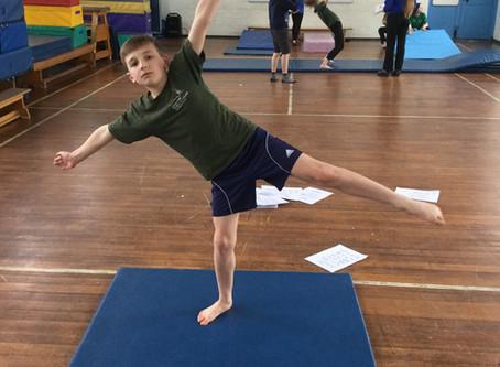 Year 6 Practise Balances in PE