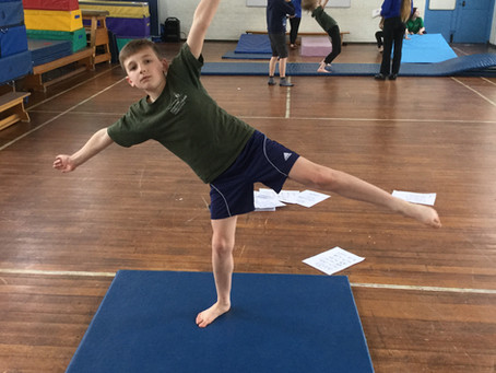 Year 6 Practise Balances in PE