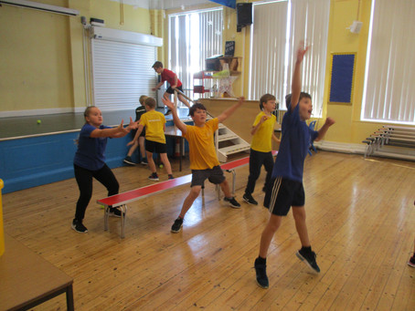 Developing Skills in Dodgeball and Basketball