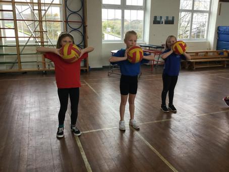 Practising Our Netball Skills