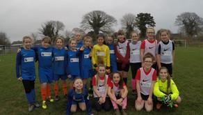 Girls football friendly with Sticklepath!