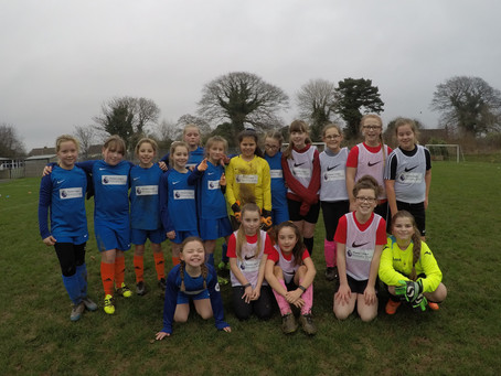 Girls football friendly with Sticklepath!