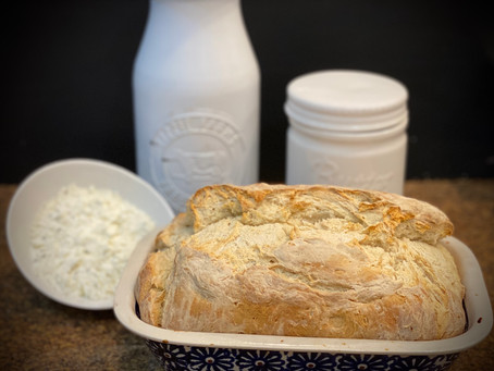 I made another batch of Chevre and used the leftover whey to make this Chevre Whey Bread.