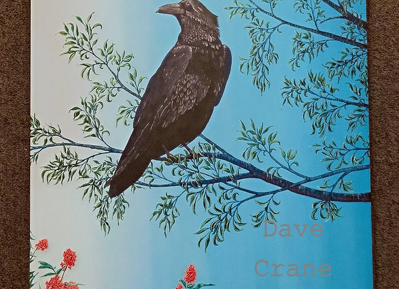 Raven Oil Paint Giclee
