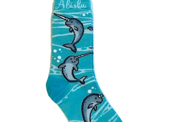 Cute Narwhale Socks
